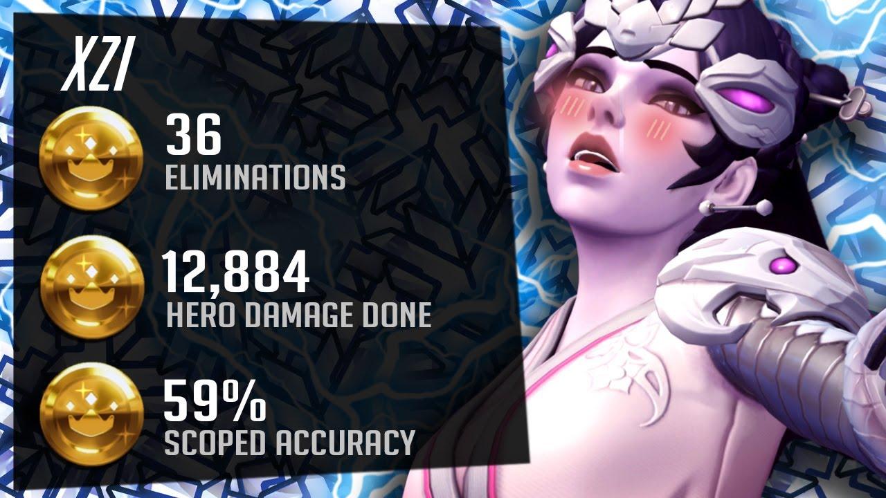 Dallas Fuel XZI Pro Widow Gameplay - Overwatch Season 27 Top 500