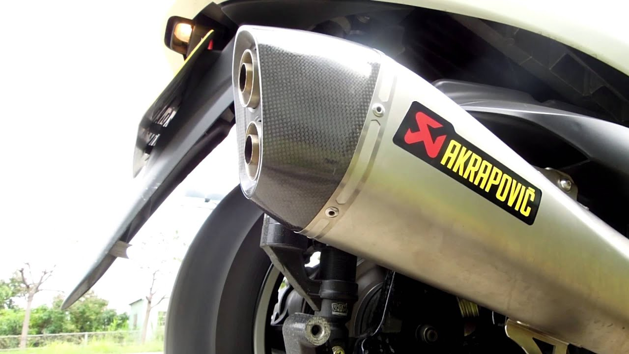 akrapovic on majesty 400 db killer youtube. Black Bedroom Furniture Sets. Home Design Ideas