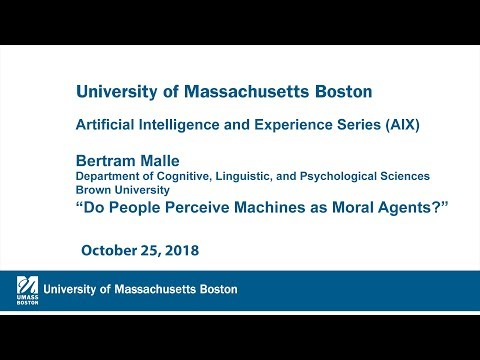 """Artificial Intelligence and Experience Series (AIEX): """"Do People Perceive Machines as Moral Agents?"""""""