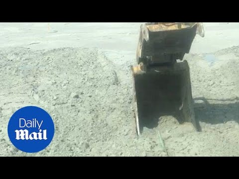 Bizarre Video Shows The Earth Wobbling Beneath A Digger