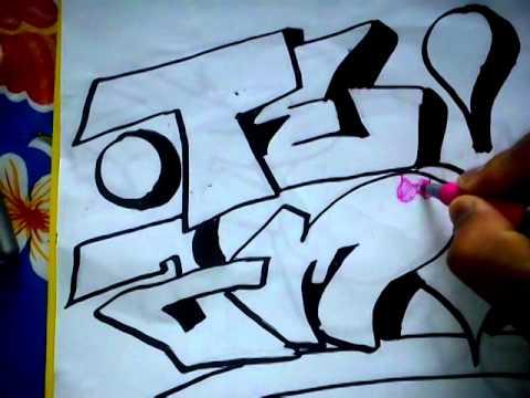 Como hacer un graffiti donde diga te amo! - YouTube