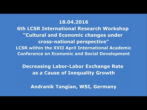 18.04.2016: Andranik Tangian: Decreasing Labor-Labor Exchange Rate as a Cause of Inequality Growth