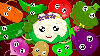 Ten Little Vegetables Jumping On The Bed | Learn Vegetables | Nursery Rhymes Songs | Rhymes For Kids