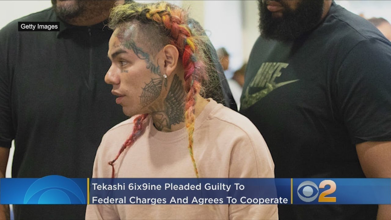 Rapper Tekashi 6ix9ine pleads guilty and admits he was part of a violent gang