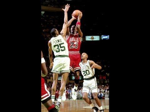 Michael Jordan gets shot blocked 4 times by Reggie Lewis