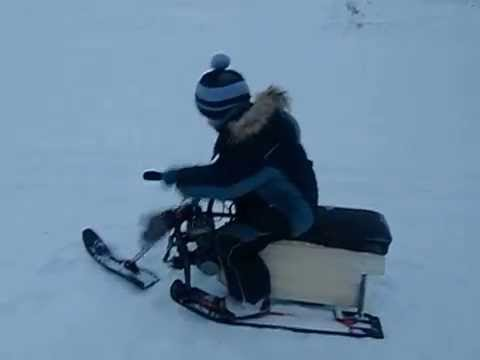 видео: детский снегоход (буран) своими руками, прикол, ржач
