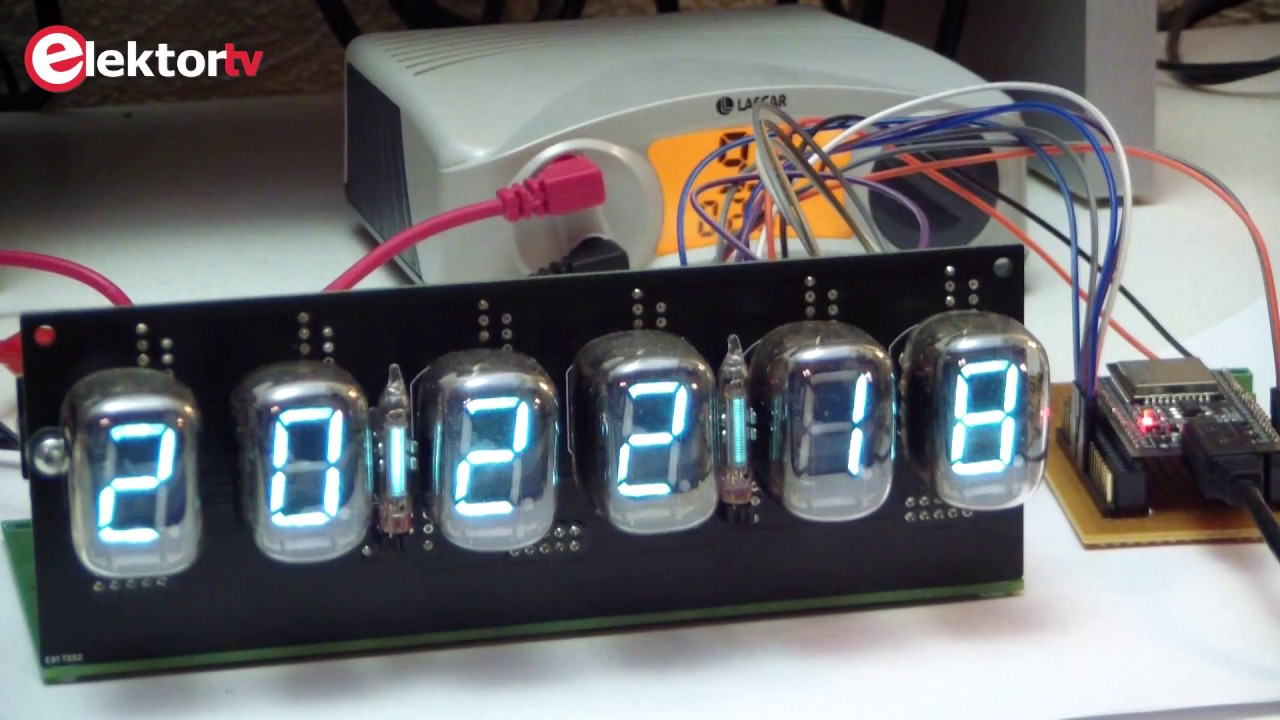 New Elektor-LABS kit: VFD-tube Clock with ESP32   Elektor Magazine