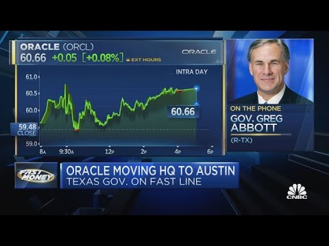 Texas Governor Abbott on Oracle moving HQ to Austin