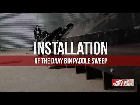 Installation of the  Daay Bin Paddle Sweep