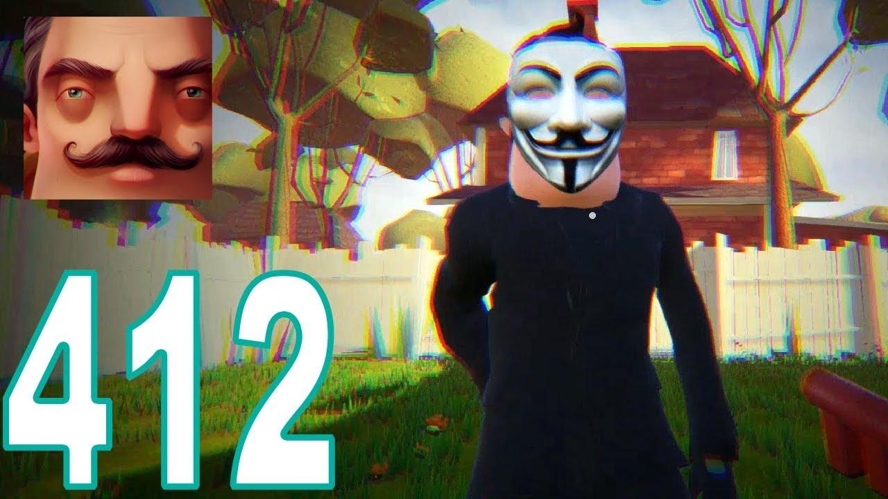 My New Neighbor V for Vendetta Act 1 Hello Neighbor Gameplay Walkthrough  Part 412