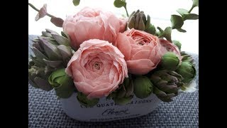видео мастер класс холодный фарфор как сделать розу