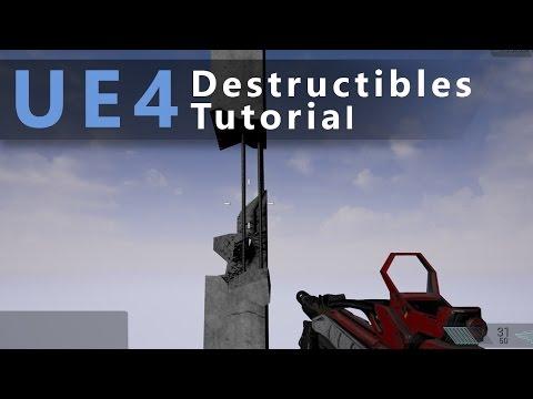 Unreal Engine 4 Destructibles tutorial - Reinforced concrete