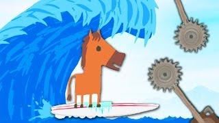 НАКРЫЛО ГИГАНТСКИМ ЦУНАМИ! КАК ПРОЙТИ ЭТОТ УРОВЕНЬ?? ( Ultimate Chiken Horse )