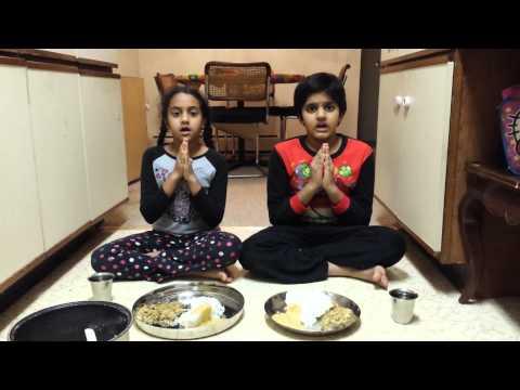 Sanskrit slokas before Eating