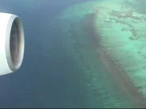 Paris - Guadeloupe (décollage et attérrissage boieng 747)