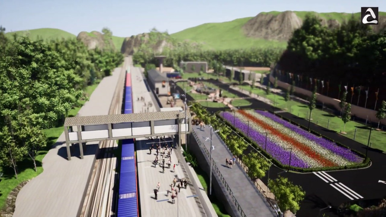 Aarban - Kaimai Road railway station at Manipur India (PROPOSED VISUAL CONCEPT) MAR 2019