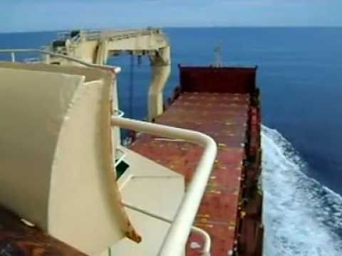 Multi-Purpose Heavy Lift Cargo Ship in Gulf of Alaska.wmv