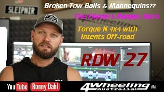 New series, snapped tow balls & Torque N 4x4, RDW 27