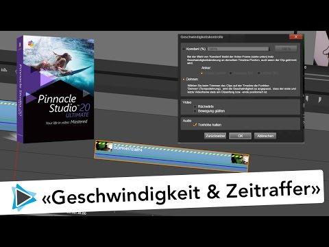 Pinnacle Studio 20 Deutsch Zeitraffer Geschwindigkeit Video Tutorial