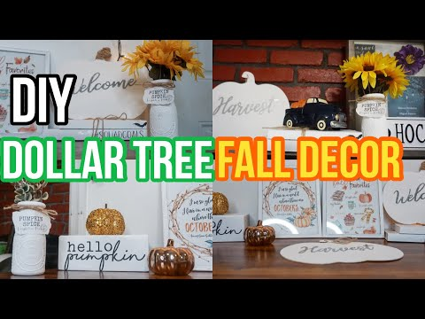 DOLLAR TREE FALL DIY DECOR IDEAS 2019 || Blanca Perdomo