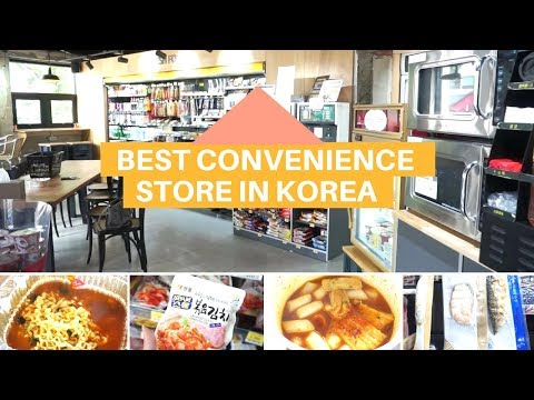 Convenience store with rooftop in seoul, korea?!🍜 what food to eat I Seoul Minutes