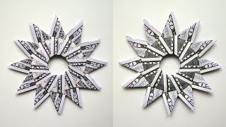 Money SUN | Modular Origami | Dollar Gift Idea | Tutorial DIY Folded (300th video!)
