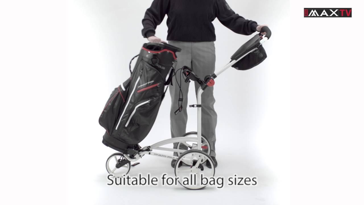 Big Max Autofold Golftrolley.Big Max Auto Fold Ff Push Carts