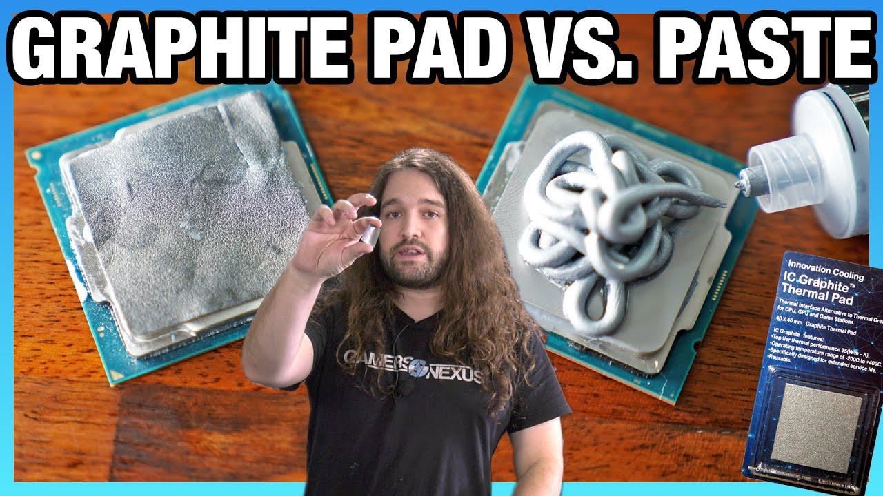 Thermal Paste Vs Reusable Graphite Thermal Pad Benchmarks Ic Diamond Pad Youtube