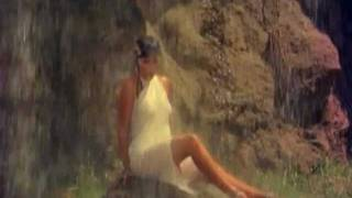 Zeenat Aman - Girl in white saree under a waterfall - Satyam Shivam Sundaram