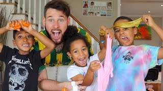 Playing with SLIME Johny Johny Yes Papa | FamousTubeKIDS