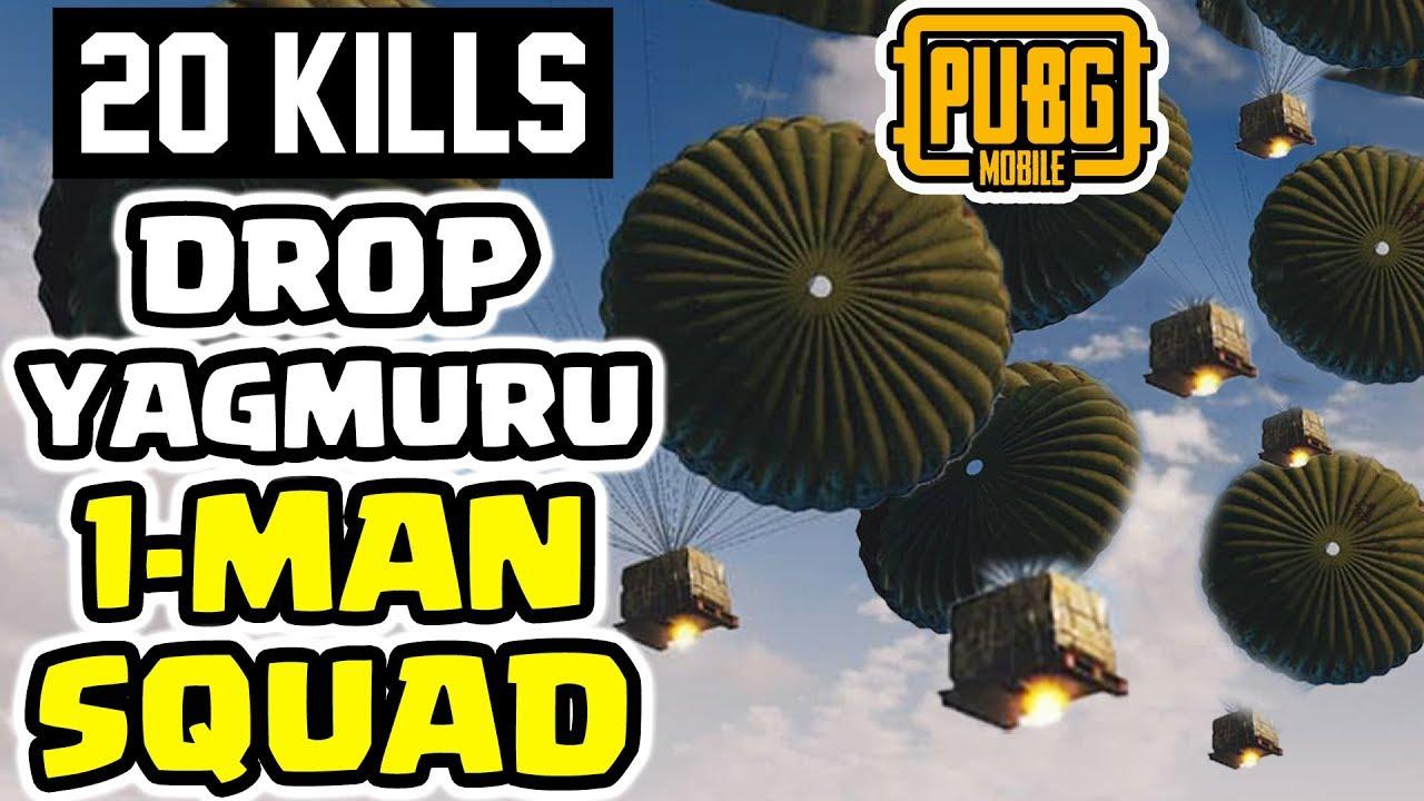 Download FİŞEK ATAN ATANA DROP YAĞMURU 1-MAN SQUAD 20 KILLS | PUBG Mobile