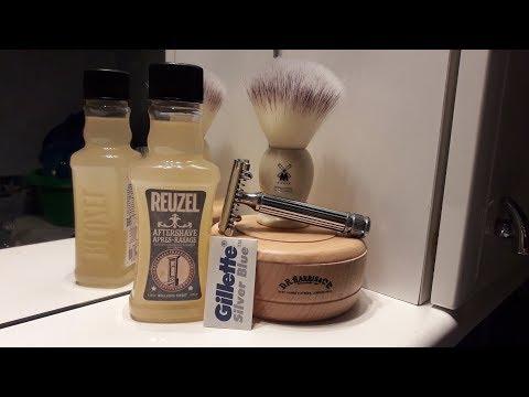 Бритье. D.R. Harris, Fatip Grande, Gillette Silver blue, Mühle synthetic brush, Reuzel. Shave review