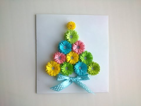 Paper Christmas cards: make  paper Quilling Christmas card.
