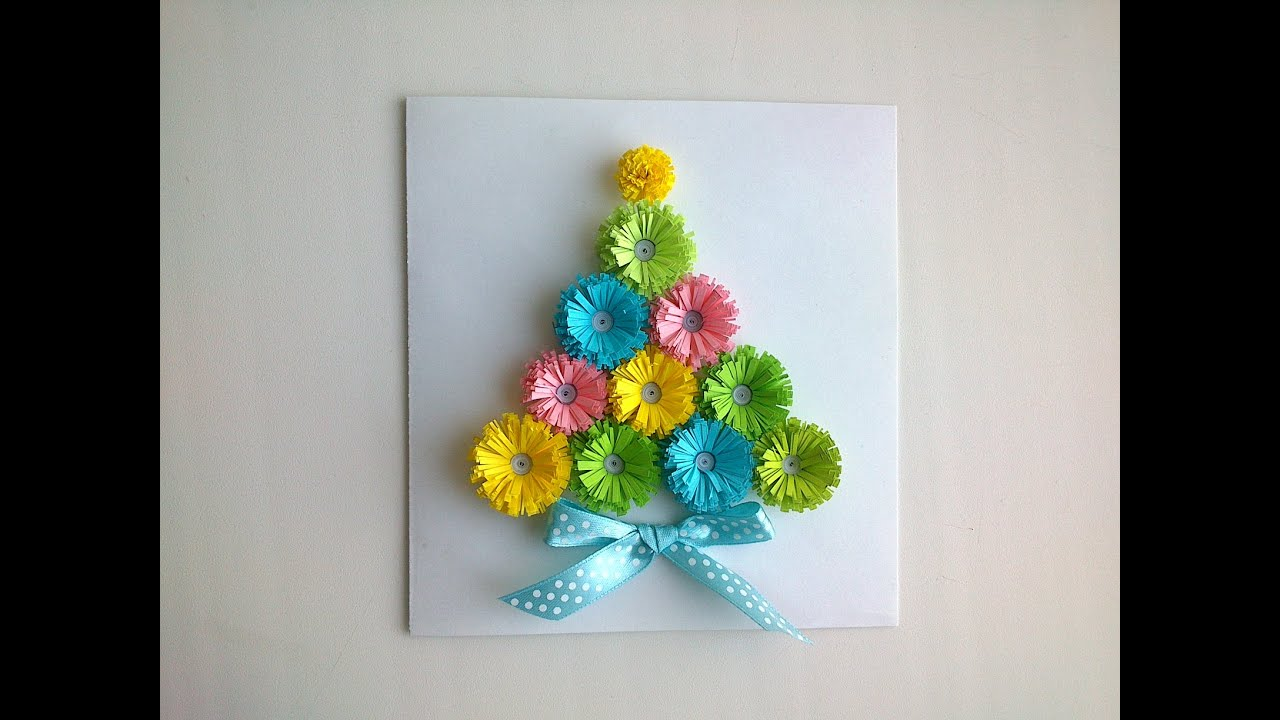 Paper Christmas Cards Make Paper Quilling Christmas Card