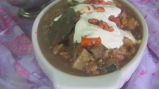 Вкусное овощное рагу с рисом брокколи кабачками и грецкими орехами со сметаной по домашнему.