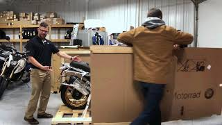 1st 2019 BMW R1250GSA HP Uncrating by Nate Jennings @ Frontline