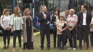El presidente Mauricio Macri inaugura transporte público de pasajeros en Junín