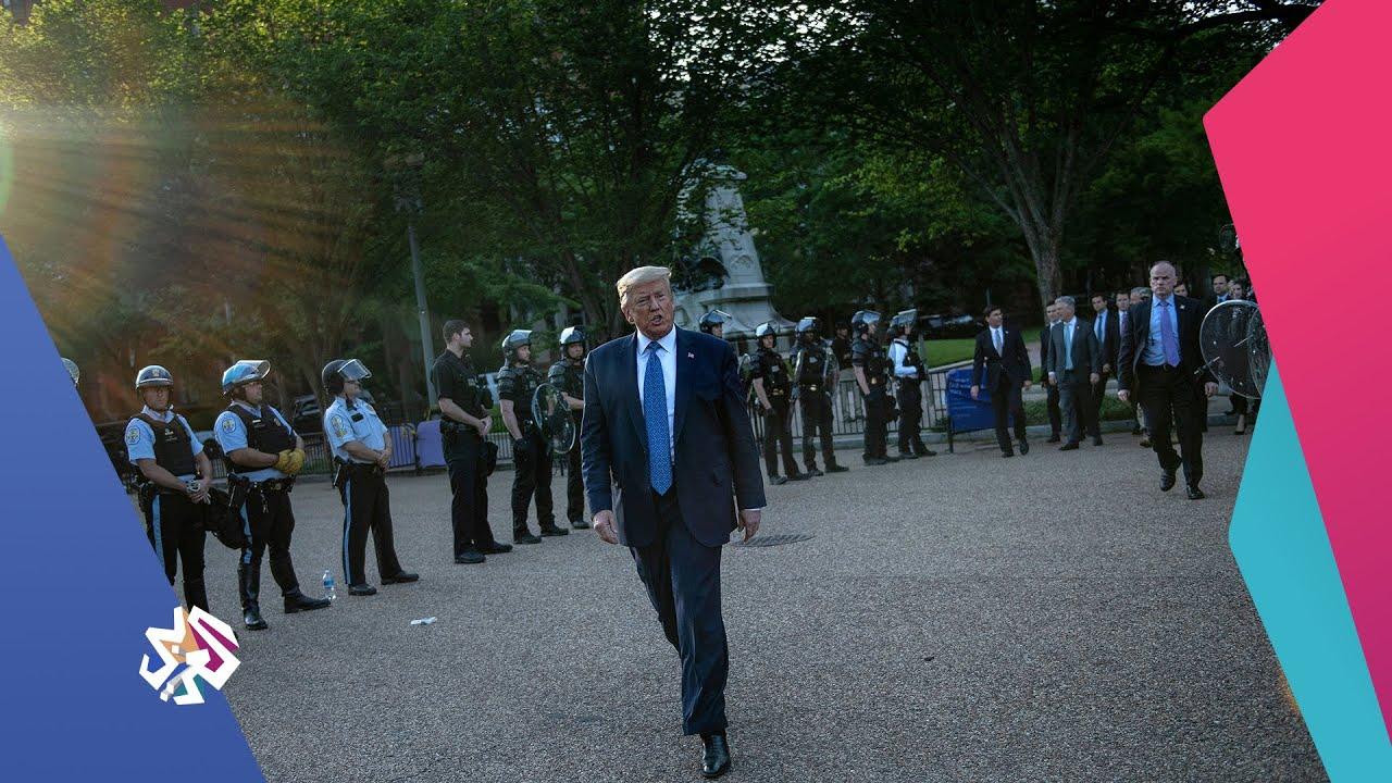 خروج استعراضي للرئيس الأميركي ترمب ردا على المظاهرات في الولايات المتحدة | أخبار العربي