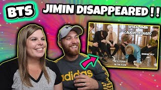 Bts Jimin Laughing So Hard That He Disappears Reaction