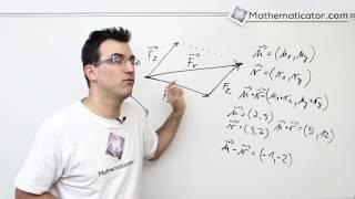 Analytická geometrie 9 - Vektory - sčítání a odčítání vektorů