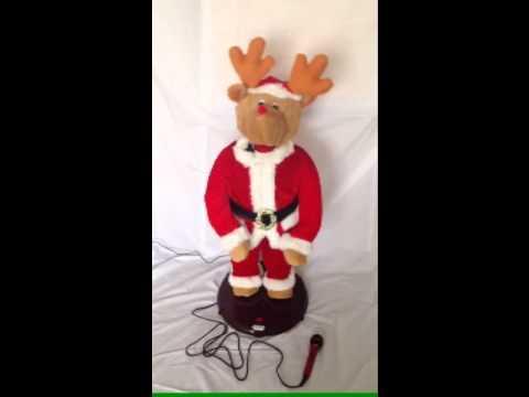 1M CHRISTMAS KARAOKE ANIMATED DANCING SINGING REINDEER