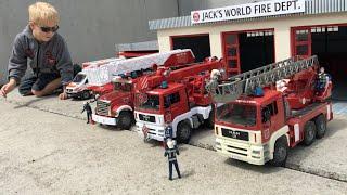 BRUDER Fire TRUCKS new FIRE DEPT. in Jack's BWORLD (filmed in 4K) thumbnail
