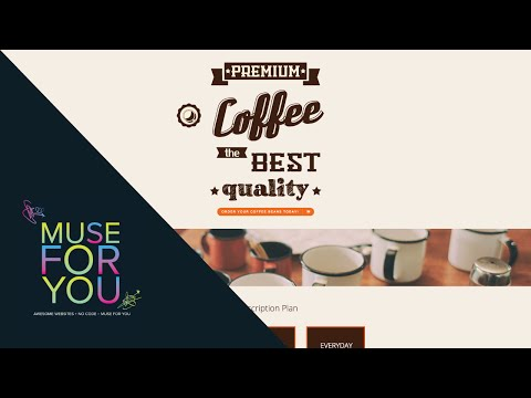 Coffee Beans Website   Adobe Muse CC, Edge Animate, Muse-Themes, and E-Commerce   Muse For You