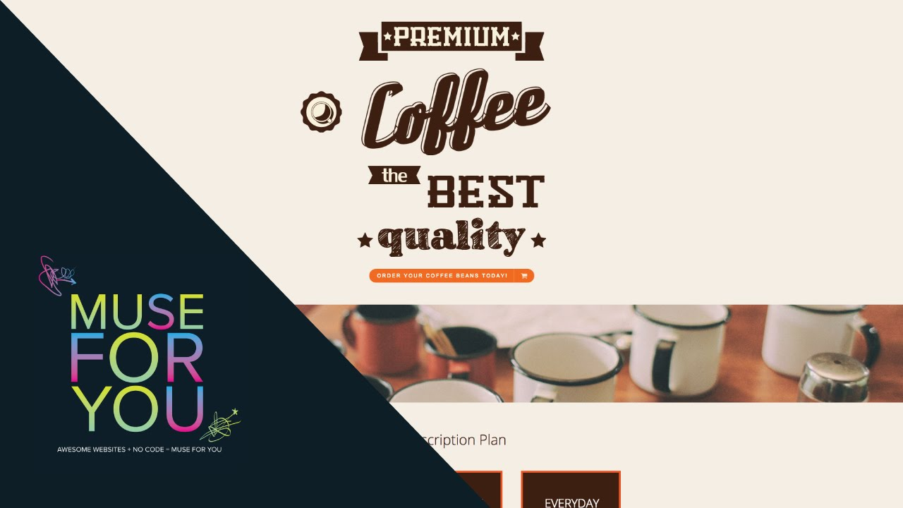 Coffee Beans Website Adobe Muse Cc Edge Animate Muse Themes And