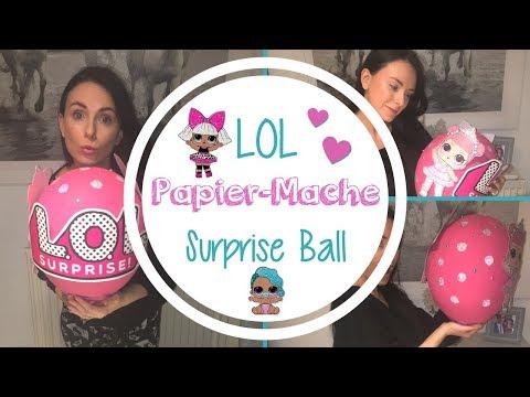 GIANT LOL SURPRISE BALL | Balloon Papier-mache | DIY | Birthday Present
