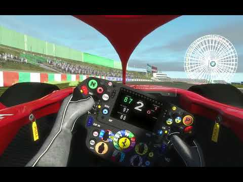 F1 2018 Emirates Japanese Grand Prix Suzuka Guide Hot Lap Onboard With Halo On rFactor 2 Round 17