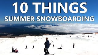 Snowboard - 10 Things To Survive Summer Snowboarding
