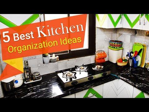 5 Best Kitchen Organization Ideas | Indian Kitchen Tour 2018