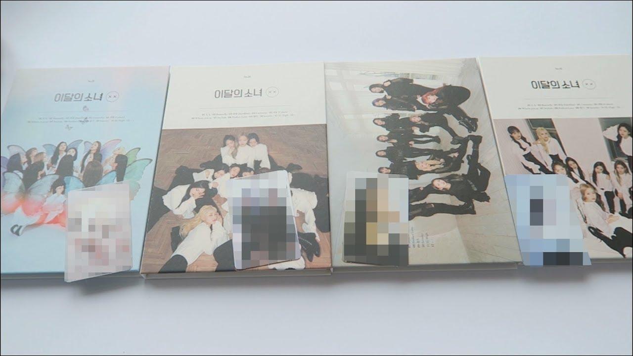 unboxing loona xx all 4 versions + album talk