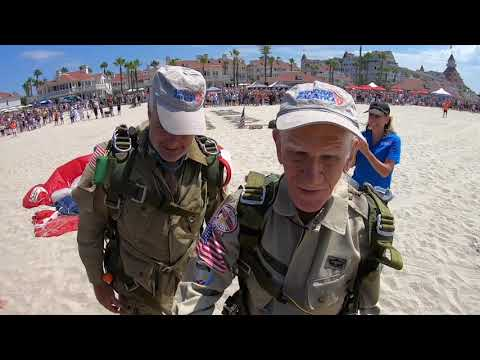 WWII paratrooper Tom Rice skydives at age 100